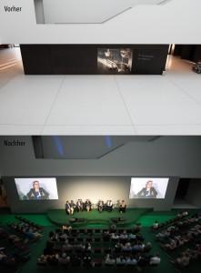 Ansicht vor- und nach dem Aufbau
